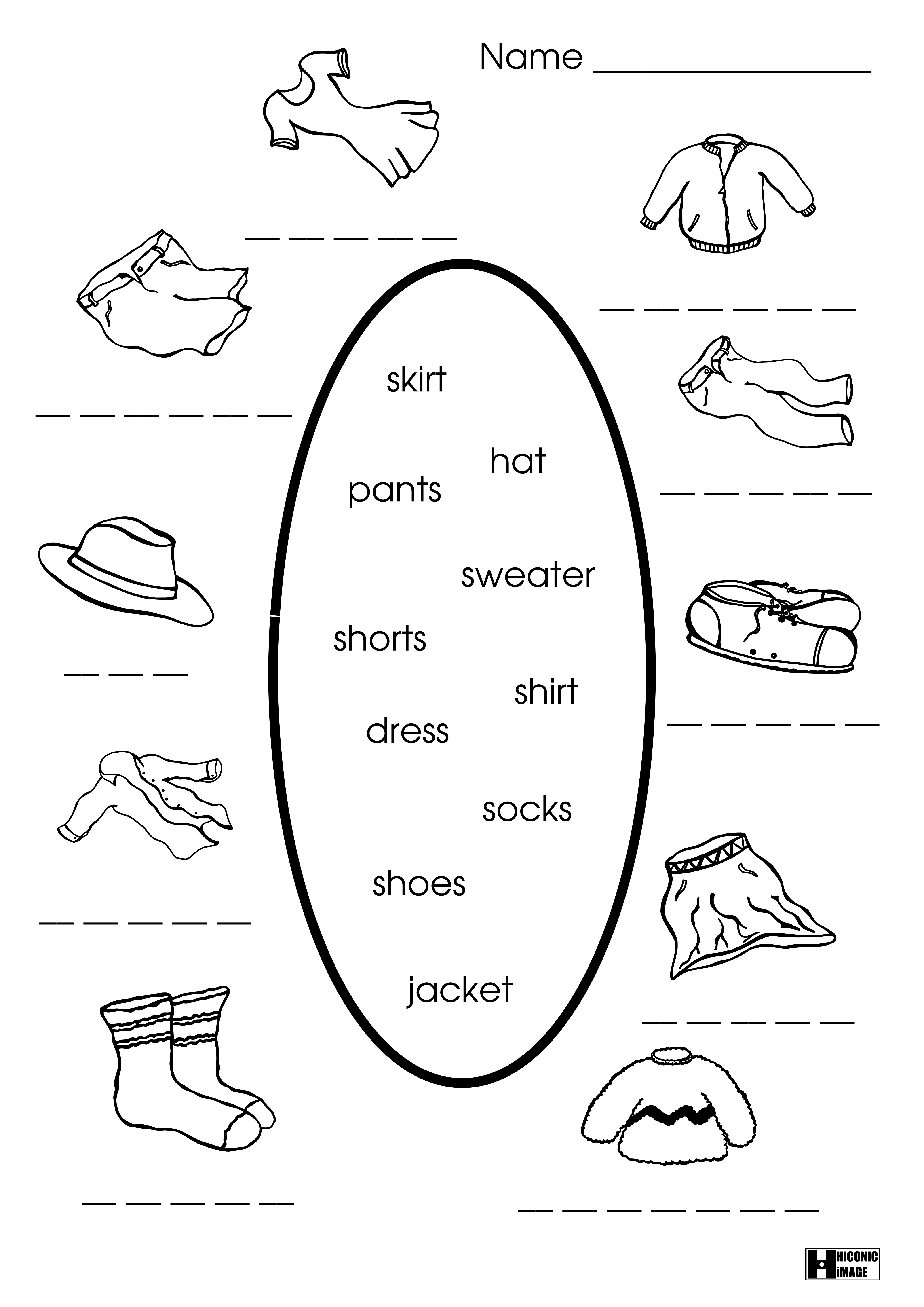 6 Images of Clothes Free Printable Worksheets