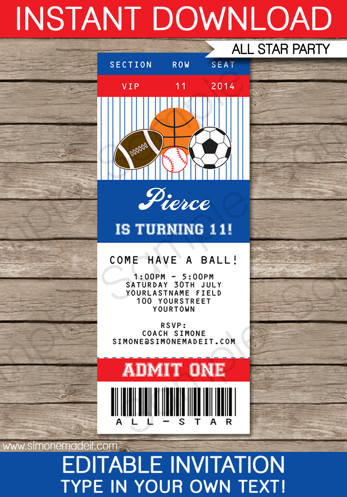 6 Best Images of Sports Ticket Templates Free Printable ...