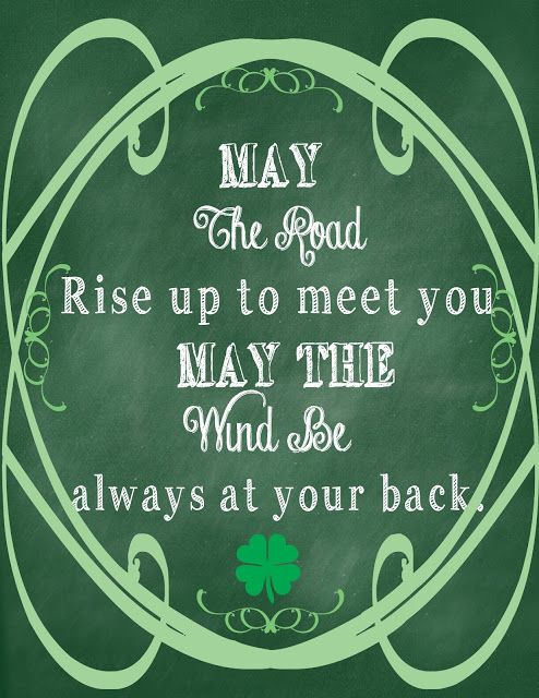 5 Images of Chalkboard St. Patty's Printable