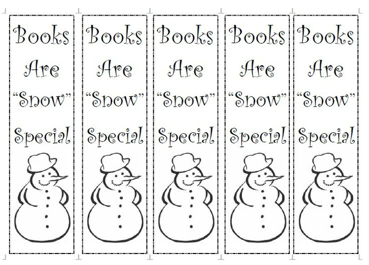 9 Images of Winter Printable Bookmarks To Color