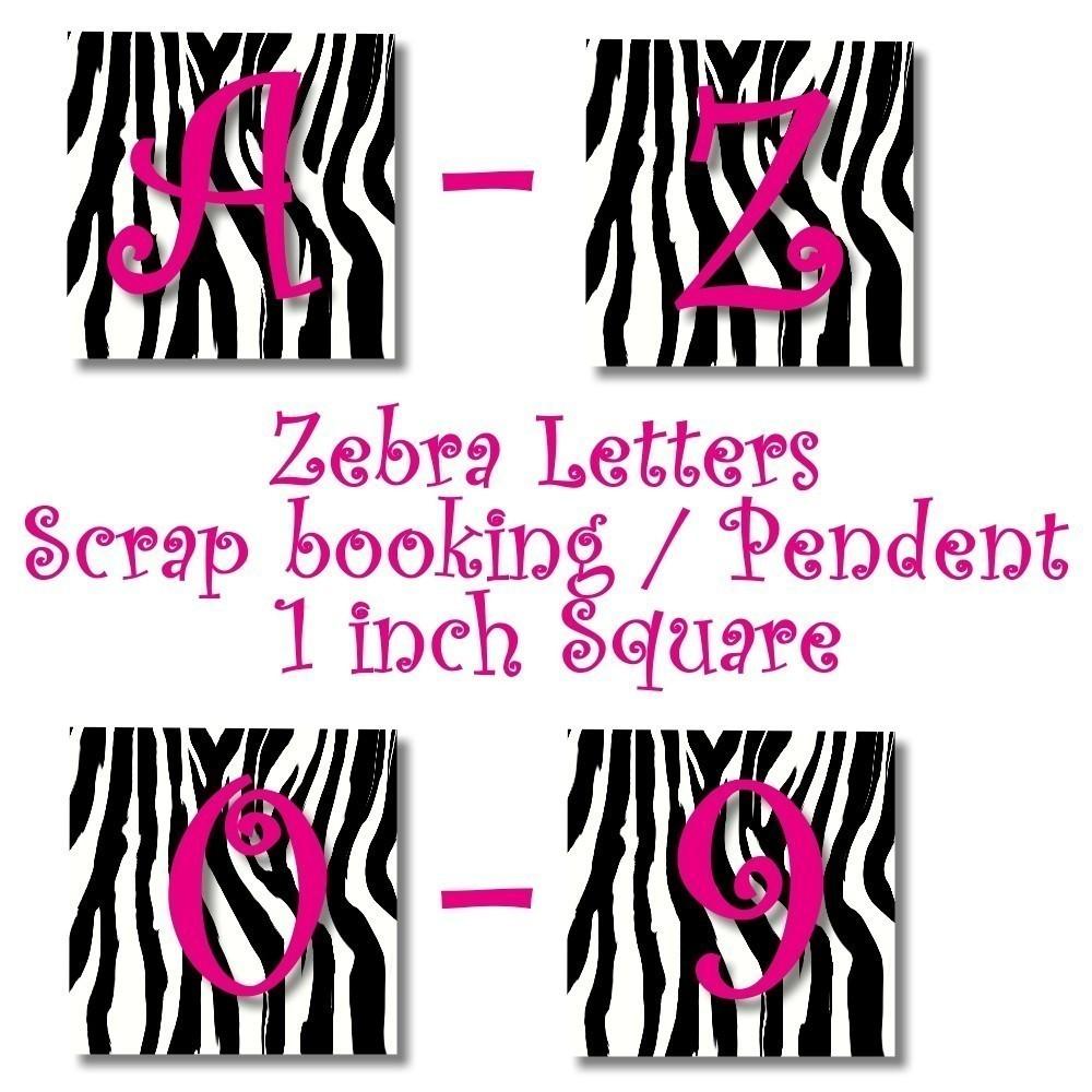 4 Images of Zebra Print Alphabet Letters Printable