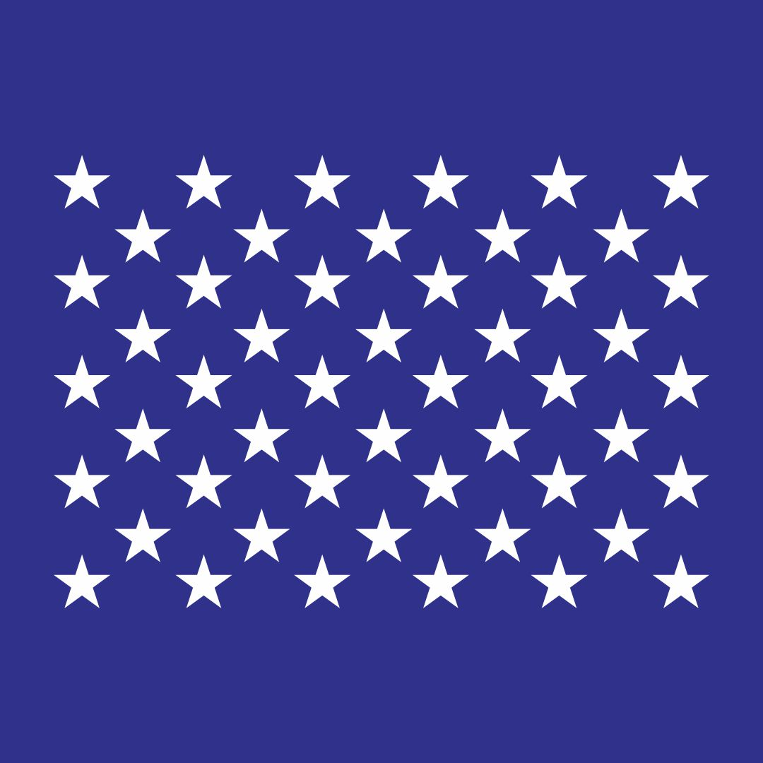 16 X 13 American Flag Star Stencil