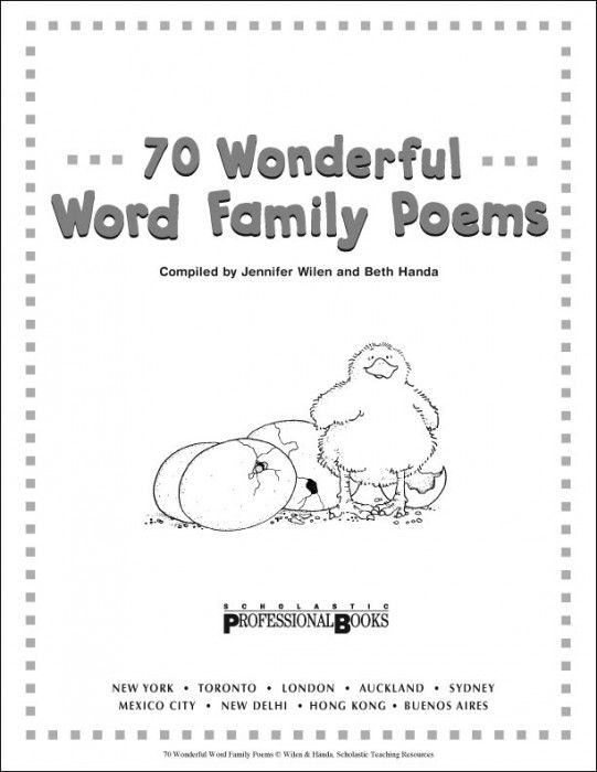 8 Images of Printable Word Family Poems