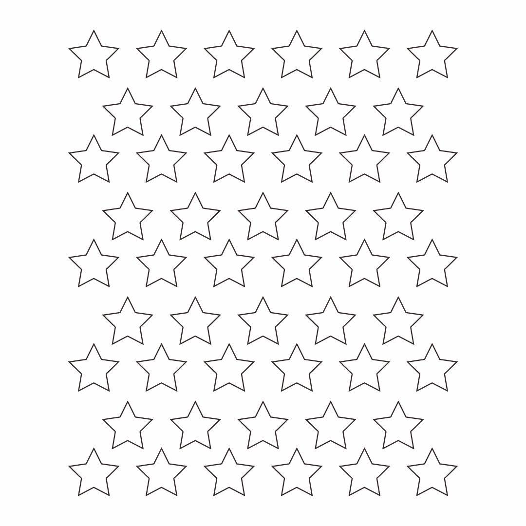 American Flag Star Template Printable