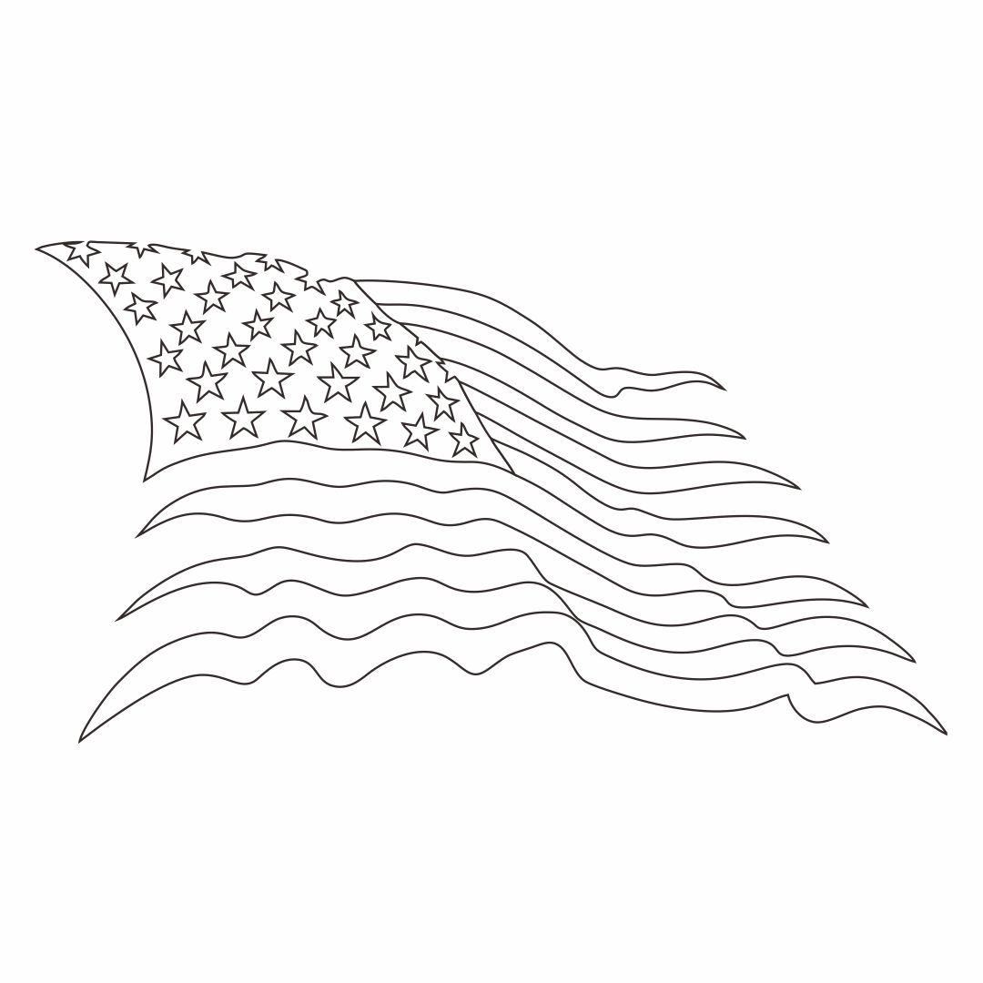 American Flag Stars Stencil Printable Free