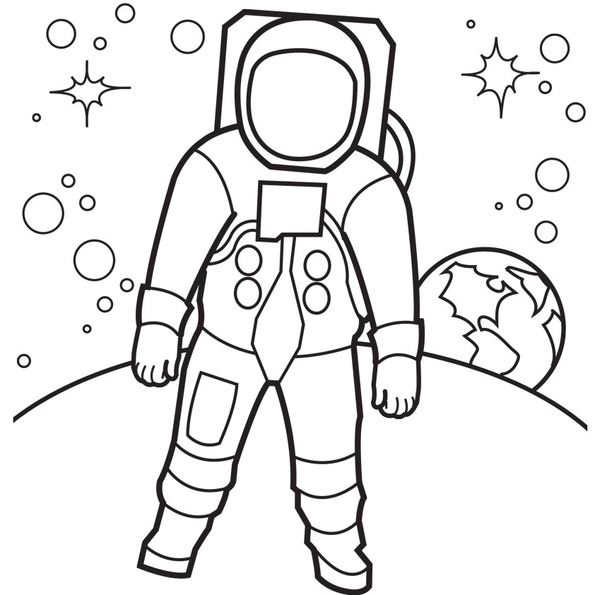 5 Images of Astronaut Printable Coloring Pages