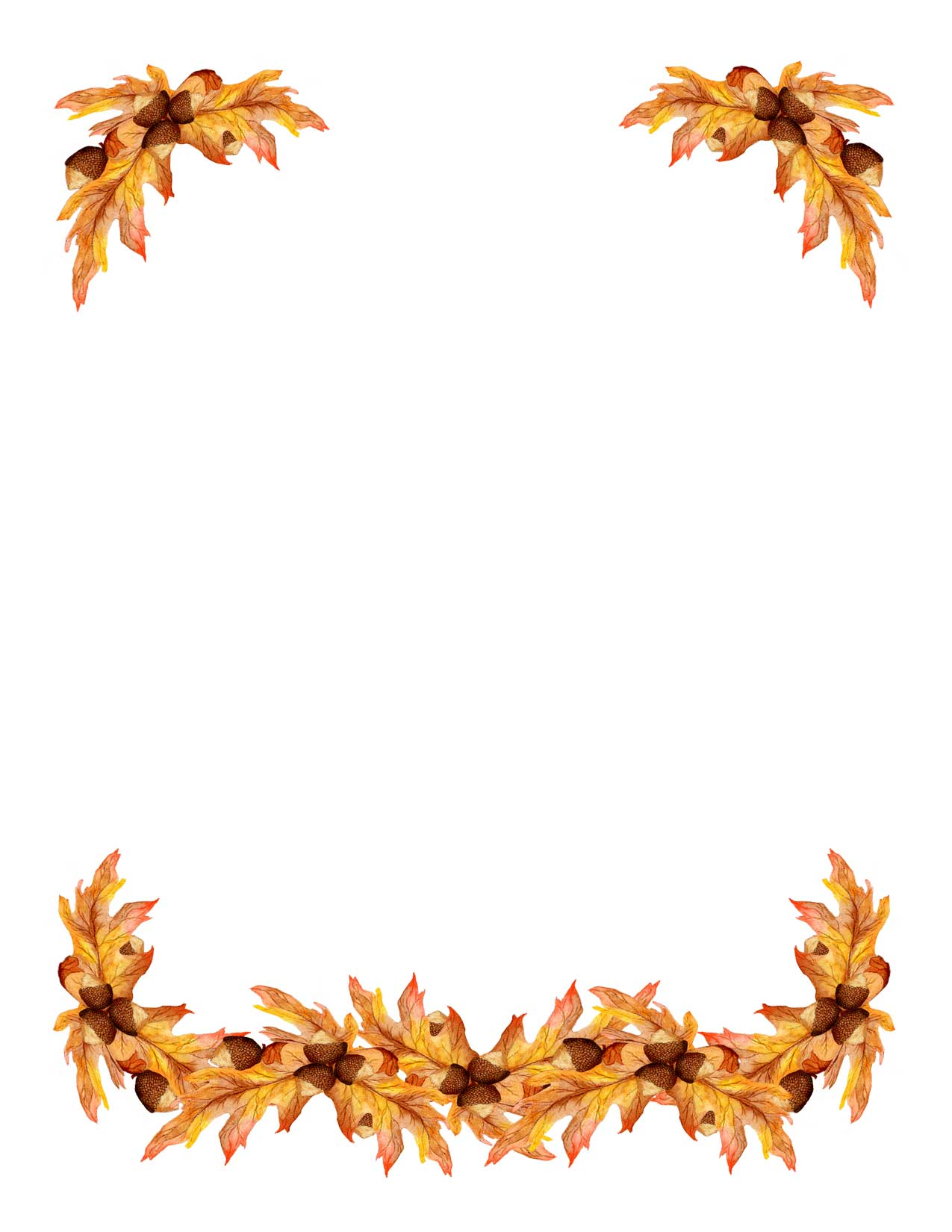 7 Images of Free Printable Fall Borders Clip Art