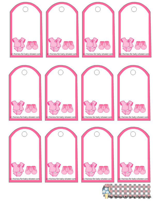 7 Images of Free Printable Baby Favor Tags