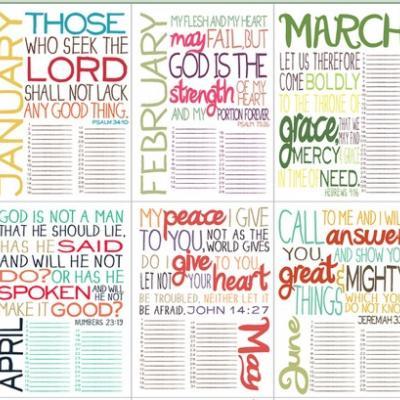 Bible Verse Calendar Printable Free