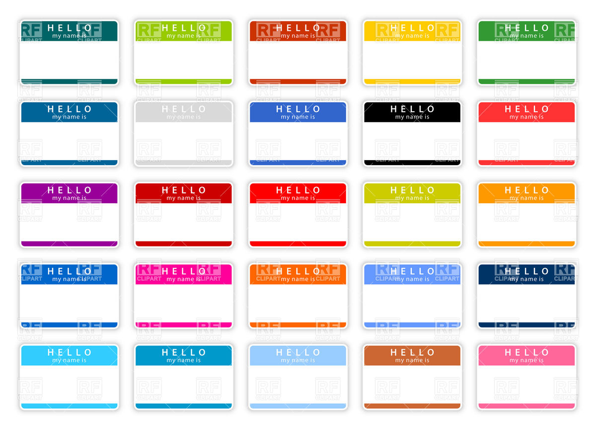 6 best images of free printable blank name tags templates for Name badge label template