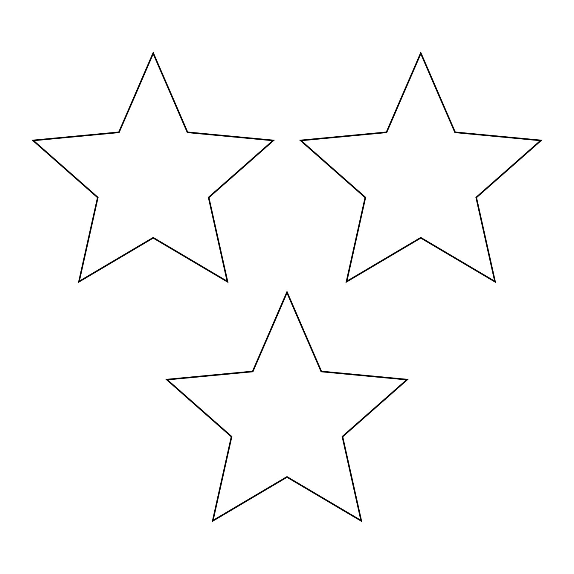 Blank Star Template