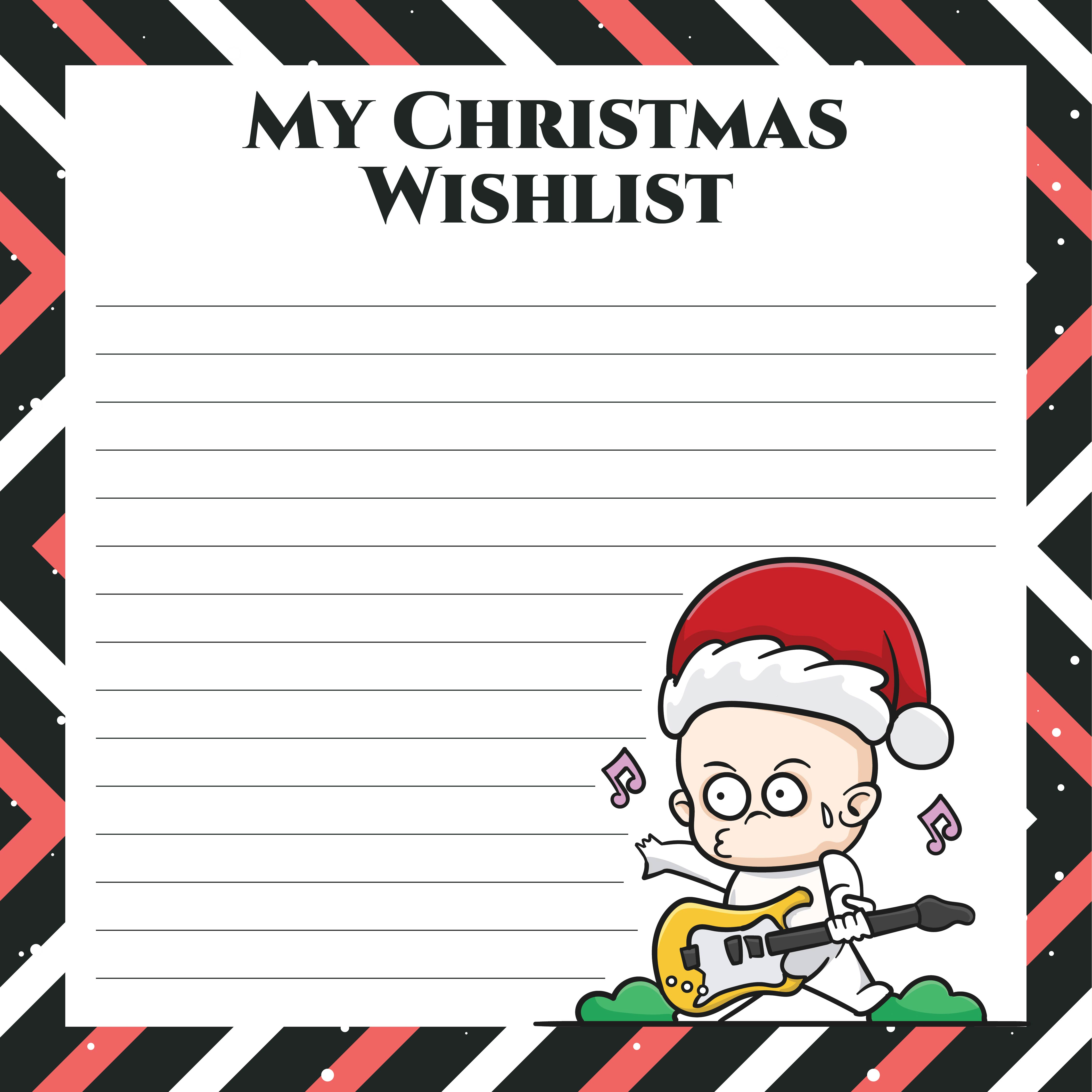Boys Christmas Wish List Printables