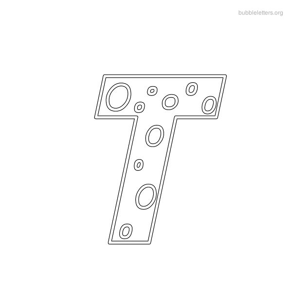 5 Images of Letter T Outline Printable