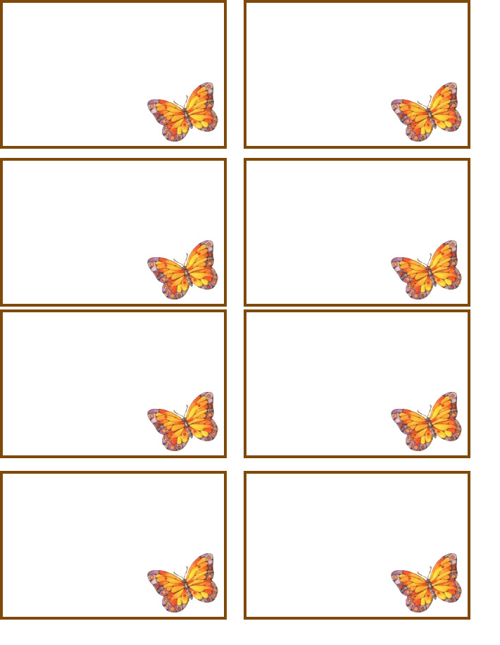 6 Images of Free Printable Butterfly Name Tags