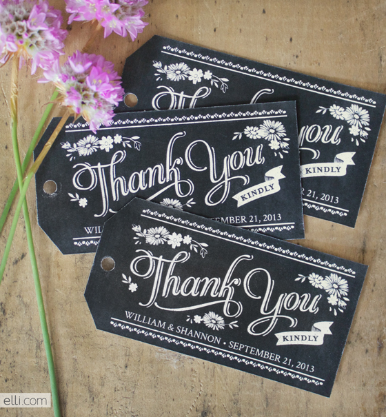 6 Images of Chalkboard Favor Gift Tags Printable