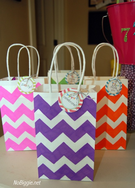 6 Images of Chevron Treat Bag Printable