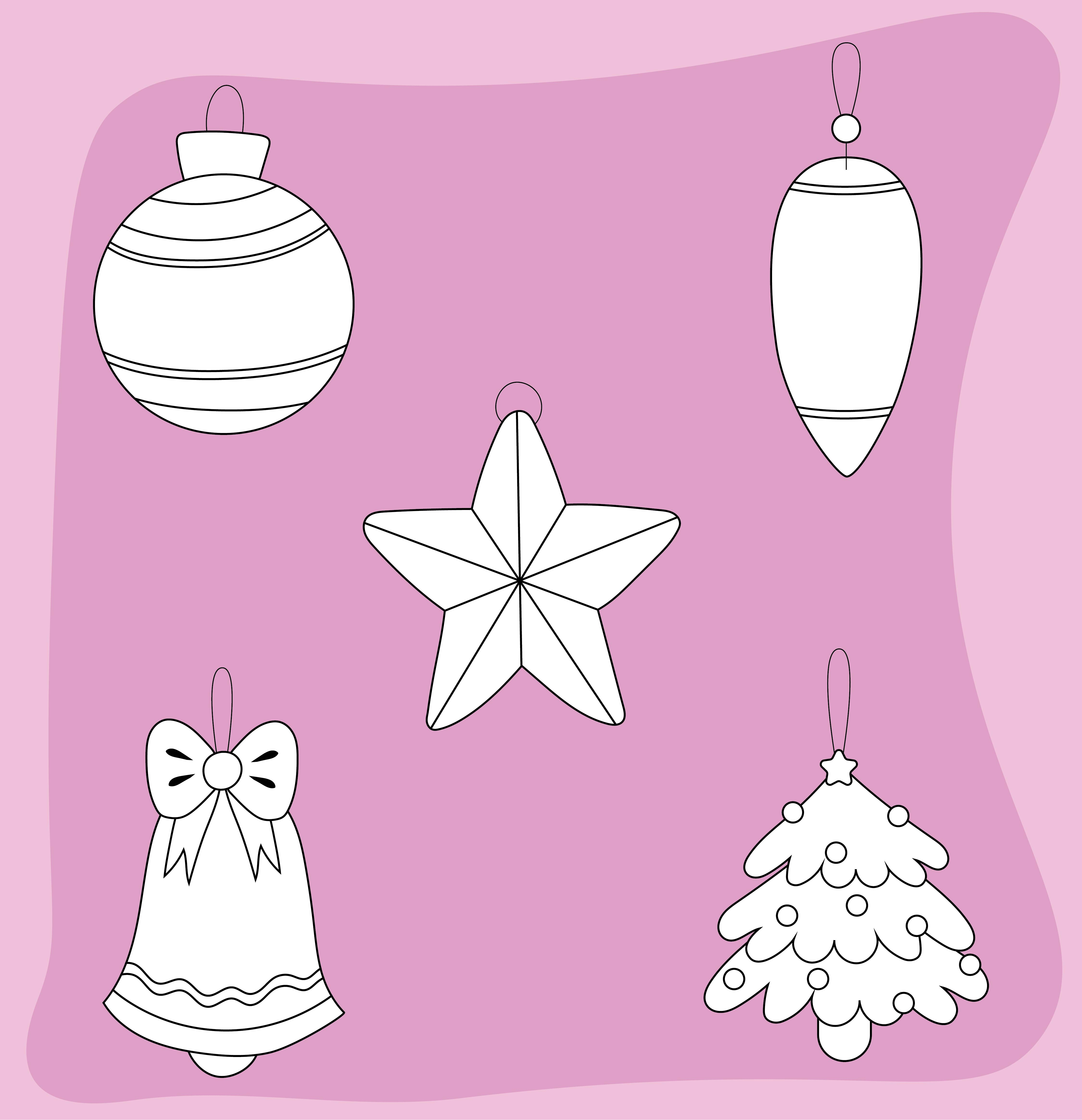 Christmas Tree Felt Ornaments Template