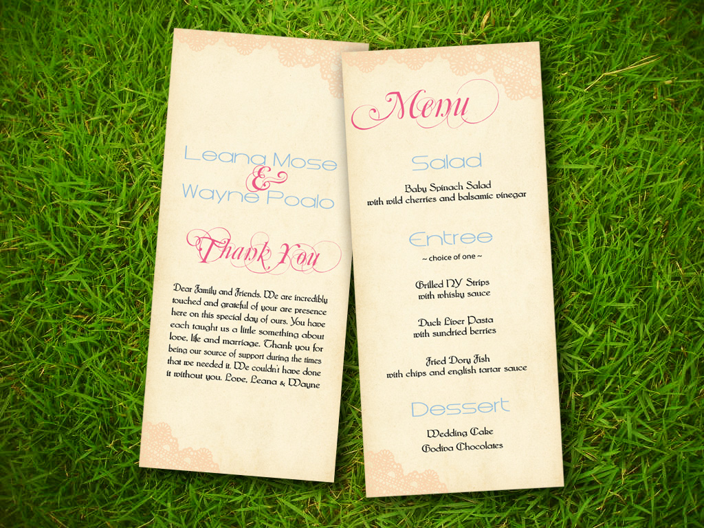 8 best images of wedding program template free printable for Free templates for church programs