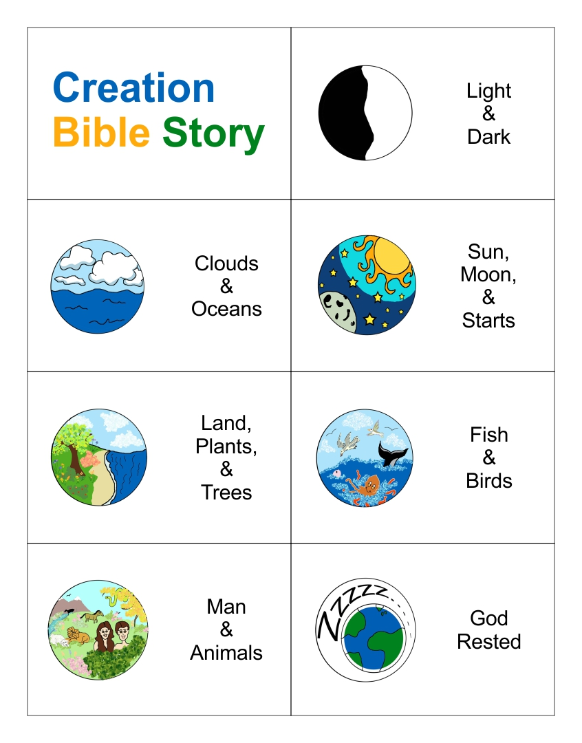 6 Images of Story Of Creation Printable