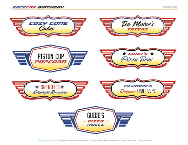 5 Images of Disney Cars Party Printables