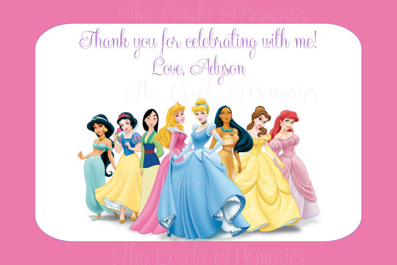 6 Images of Disney Princess Thank You Cards Printable