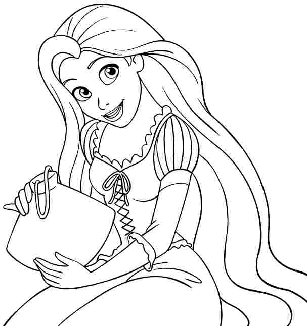 7 best images of free printable coloring pages rapunzel for Disney princess rapunzel coloring pages