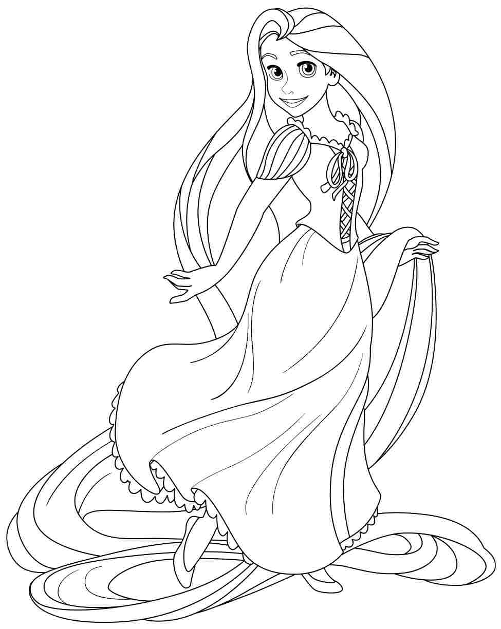7 Images of Free Printable Coloring Pages Rapunzel