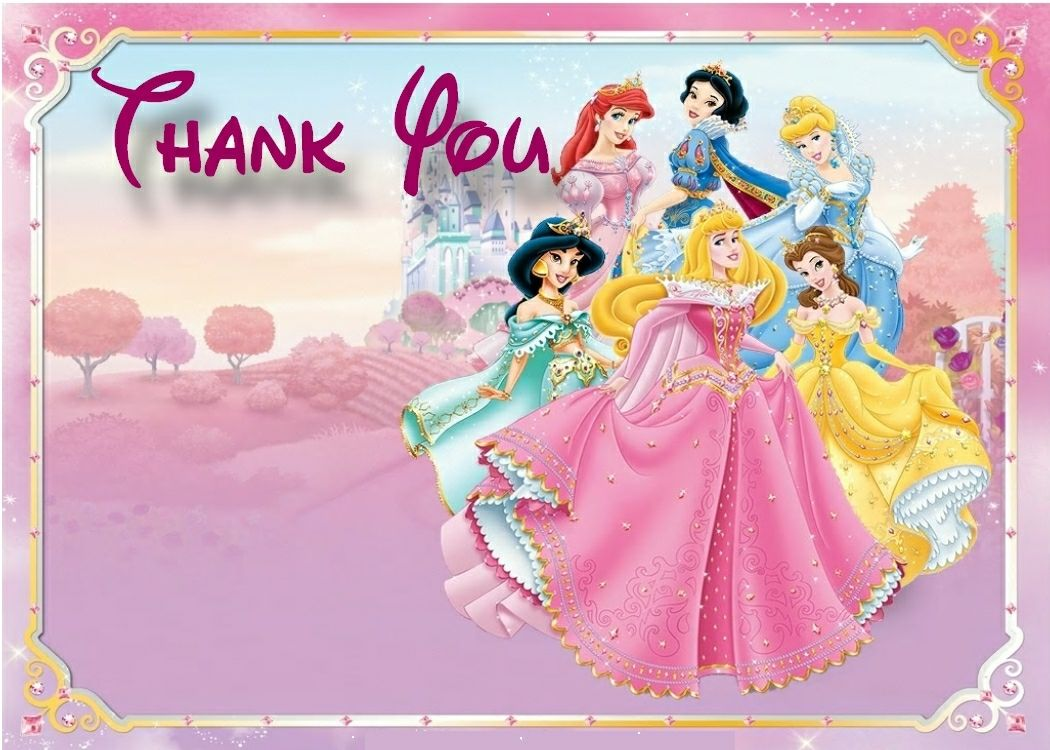 6 Best Images of Disney Princess Thank You Cards Printable ...