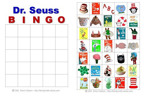 6 Images of Free Printable Dr. Seuss Bingo Game