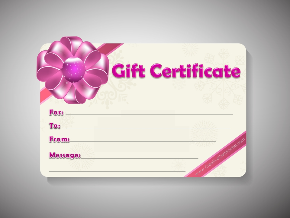 5 Images of Free Editable Printable Gift Certificates