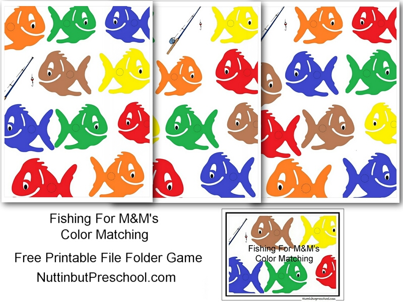 5 Images of Color Fish Matching Game Printable