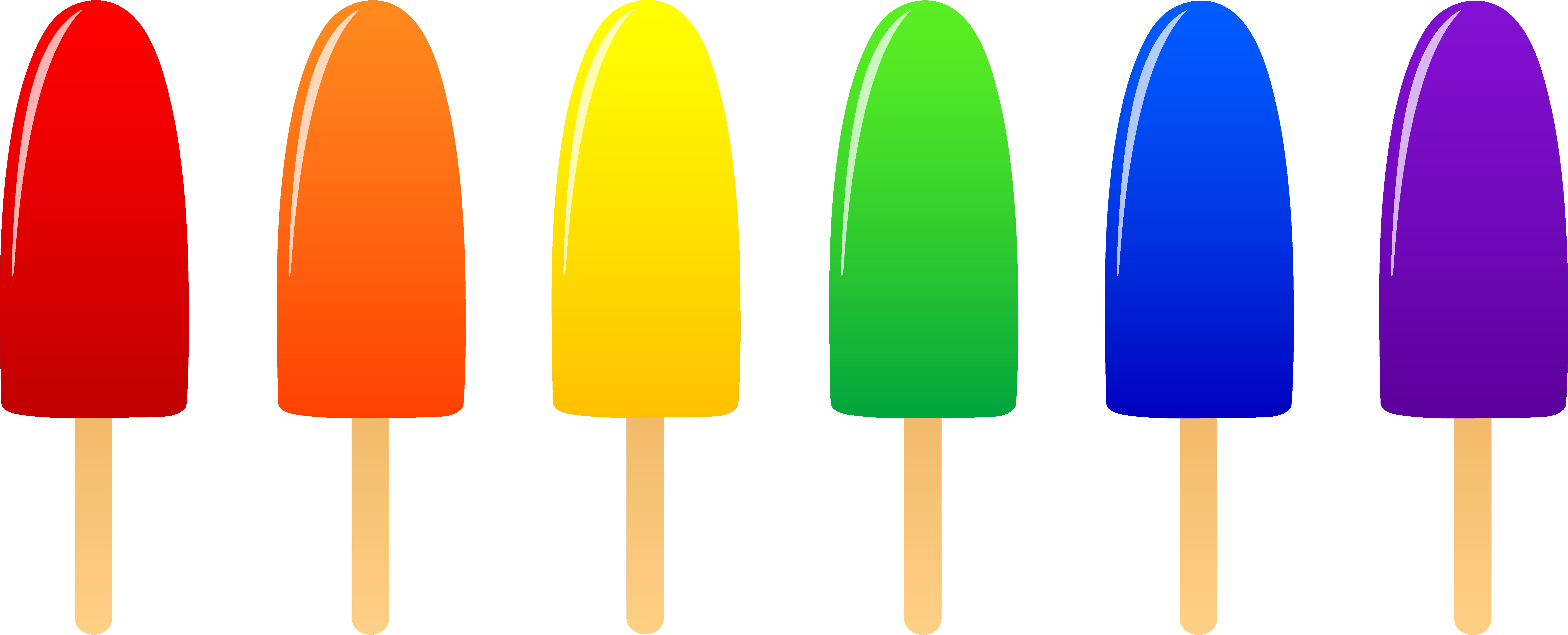 ... Rainbow Ice Cream Clip Art and Flavor Ice Pops Clip Art / printablee