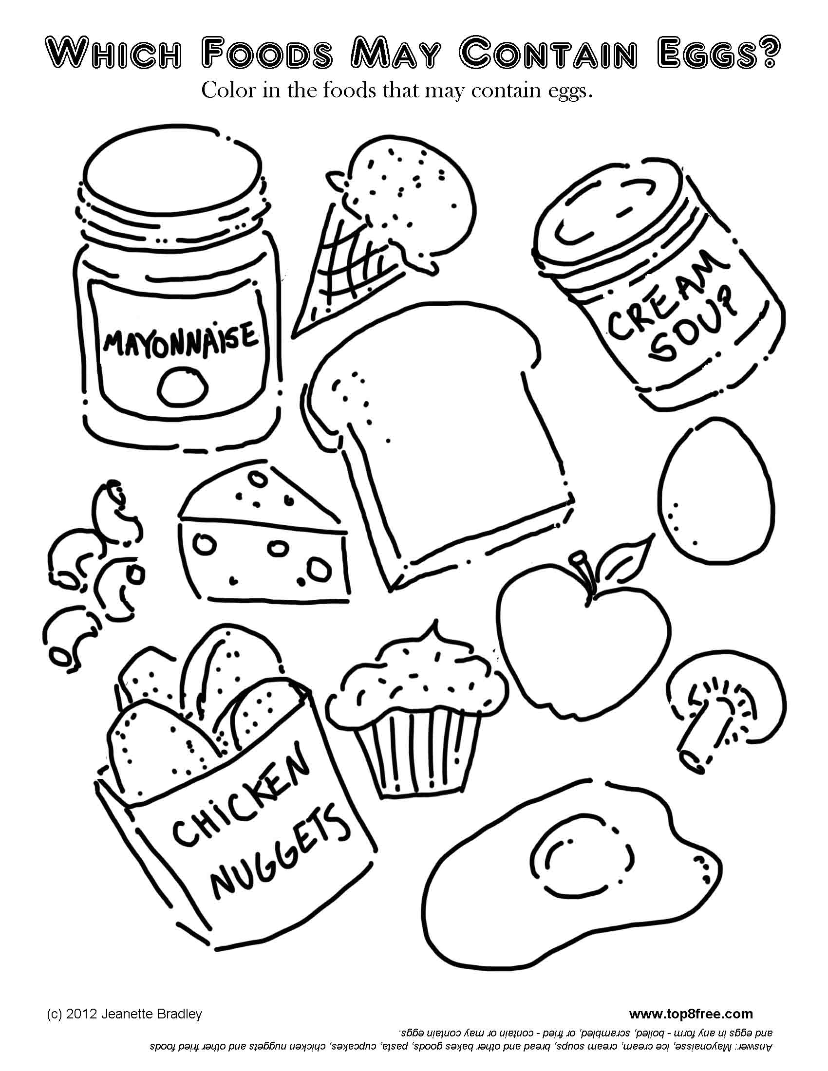 4 Images of Printable Pictures Of Food Items
