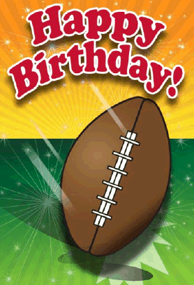 8 Images of Football Birthday Printable Cards For Boys