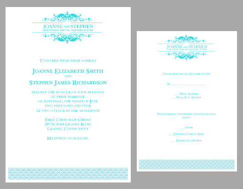 editable invitation templates, Wedding invitation
