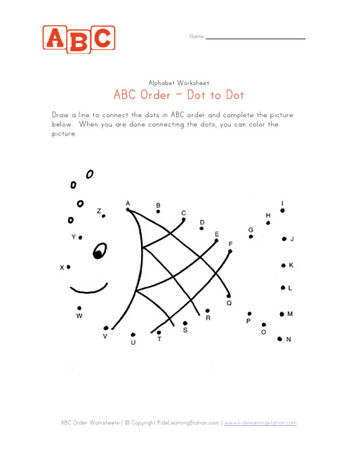 Number Names Worksheets : dot to dot letters printable ~ Free ...
