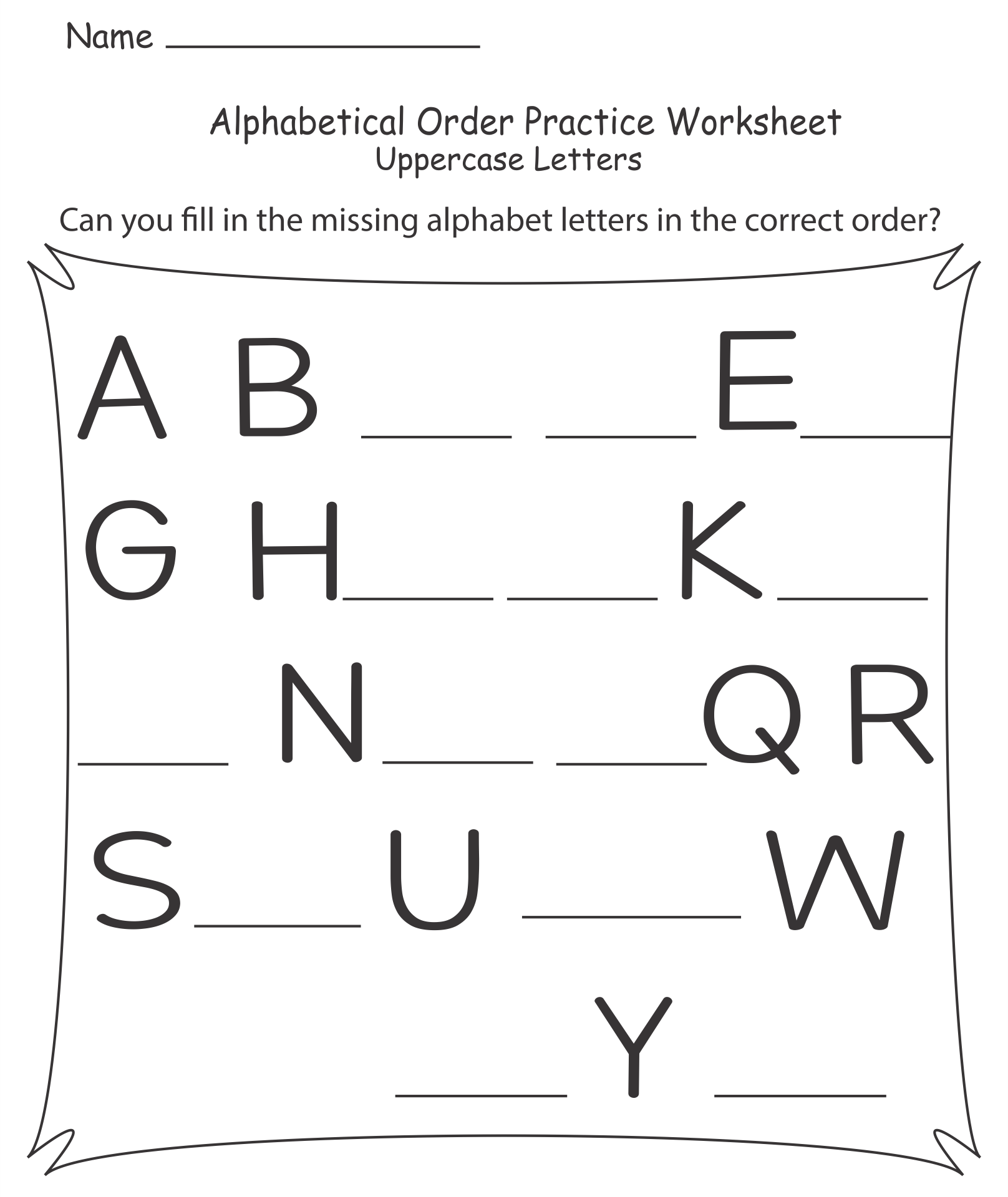 math worksheet : 9 best images of free printable alphabet worksheets kindergarten  : Worksheets On Alphabets For Kindergarten