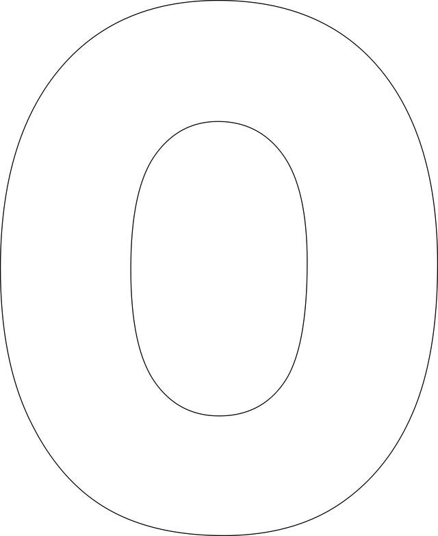 Printable Alphabet Templates Letter O