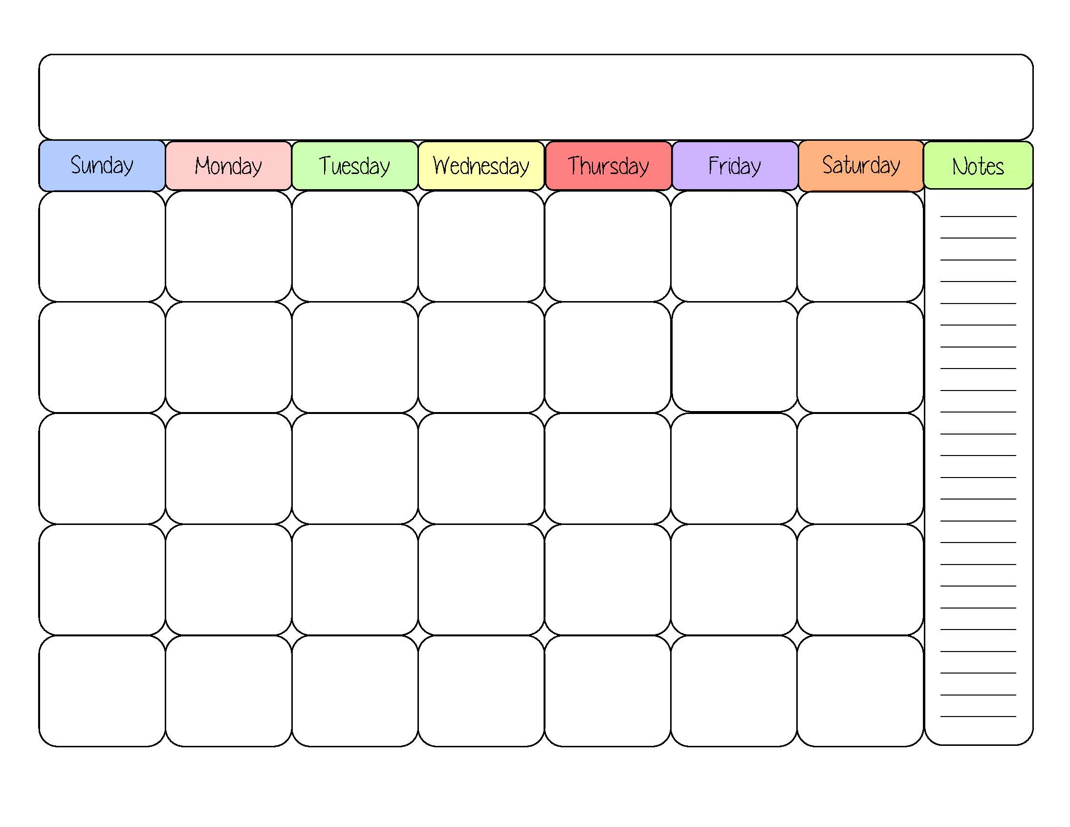 6 Images of Free Printable Calendar Templates