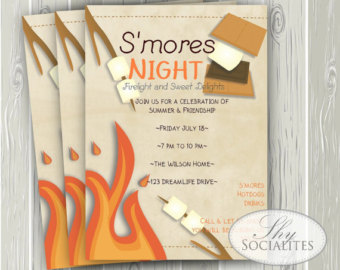8 Best Images of Campfire Invite Printable - S'mores ...