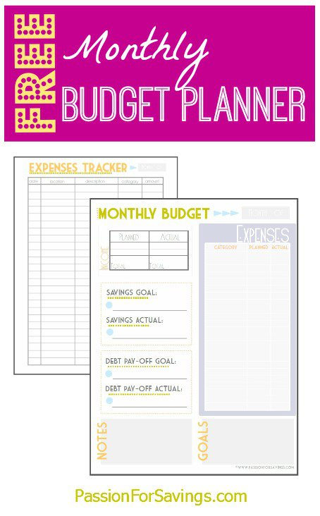 4 best images of free printable financial trackers free