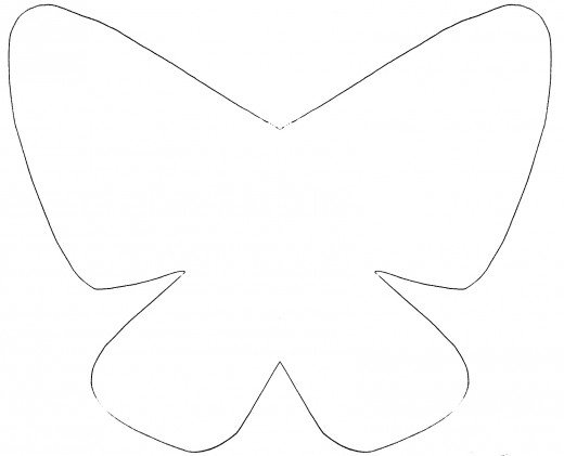 7 best images of large butterfly template printable for Butterfly birthday cake template printable