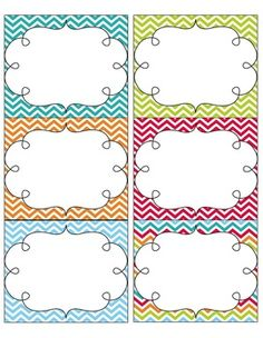 7 Images of Turquoise Chevron Name Tags Printable Free