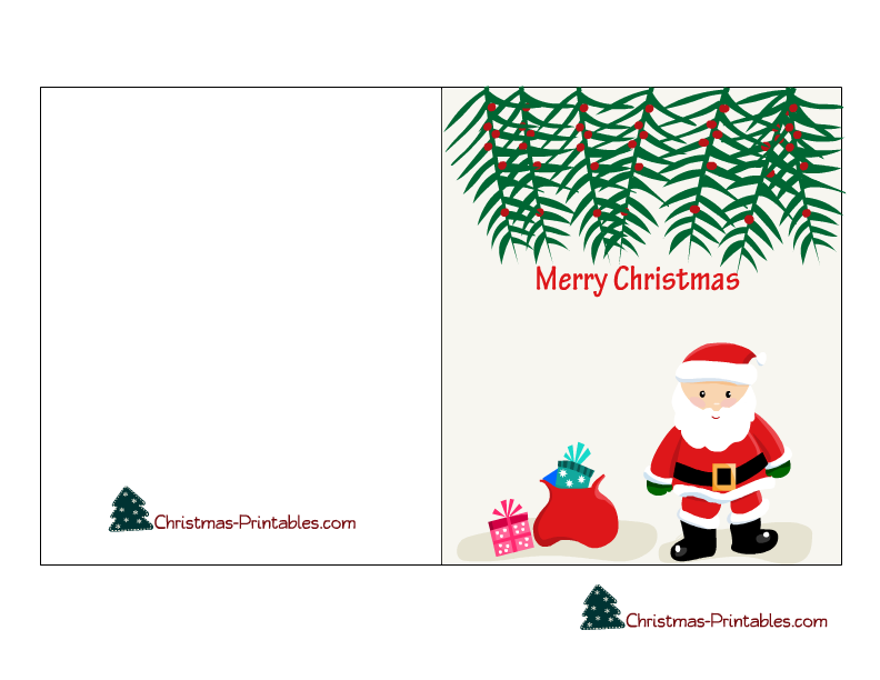 4 Images of Cute Christmas Card Printables Free