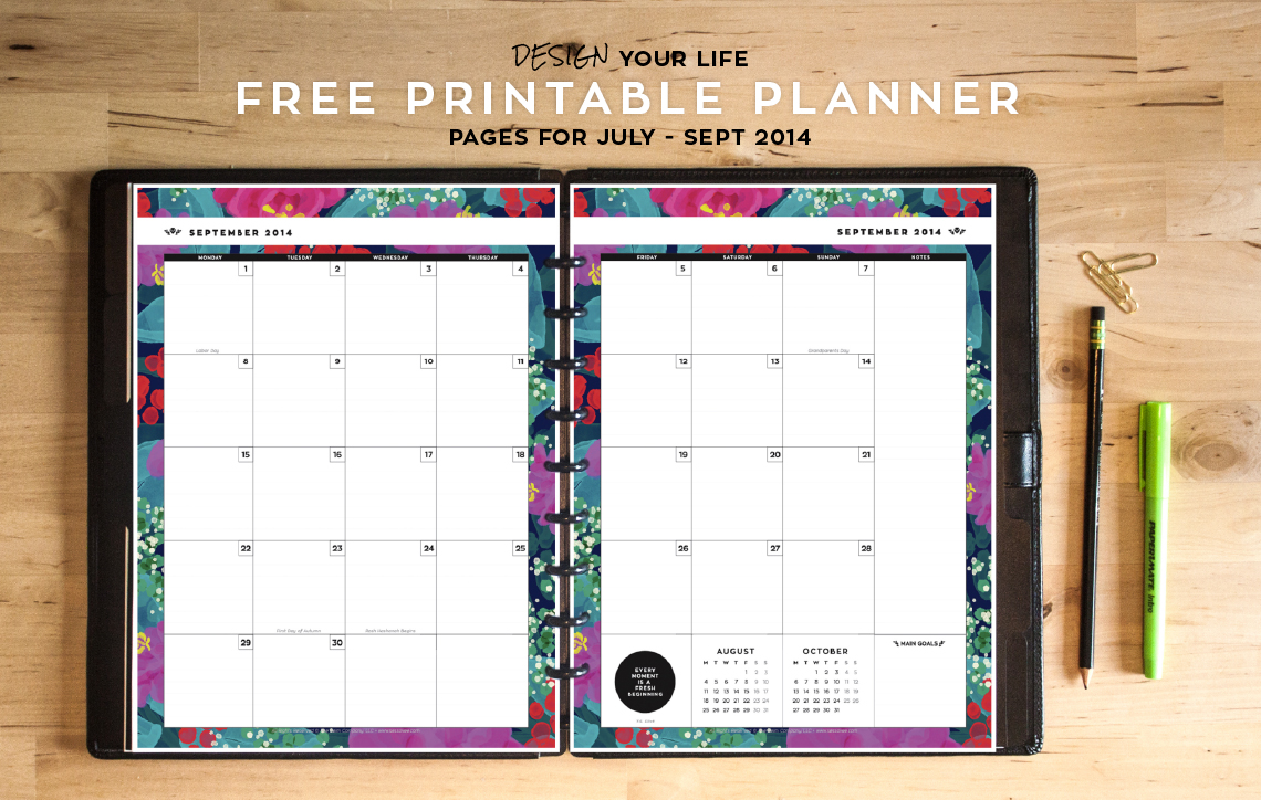 6 Images of Free Printable Planner 2014-2015