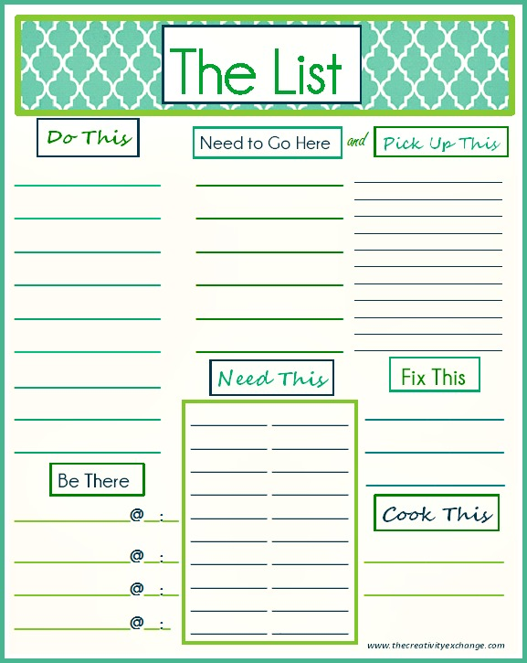6 best images of printable daily to do list
