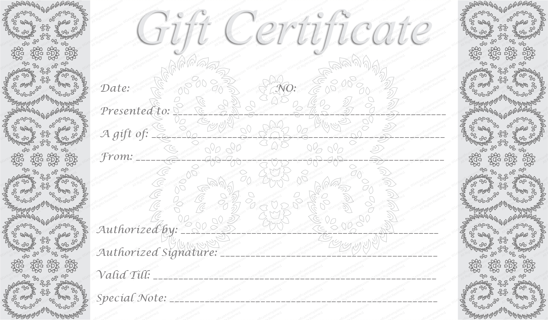 5 best images of free editable printable gift certificates for Free downloadable gift certificate templates