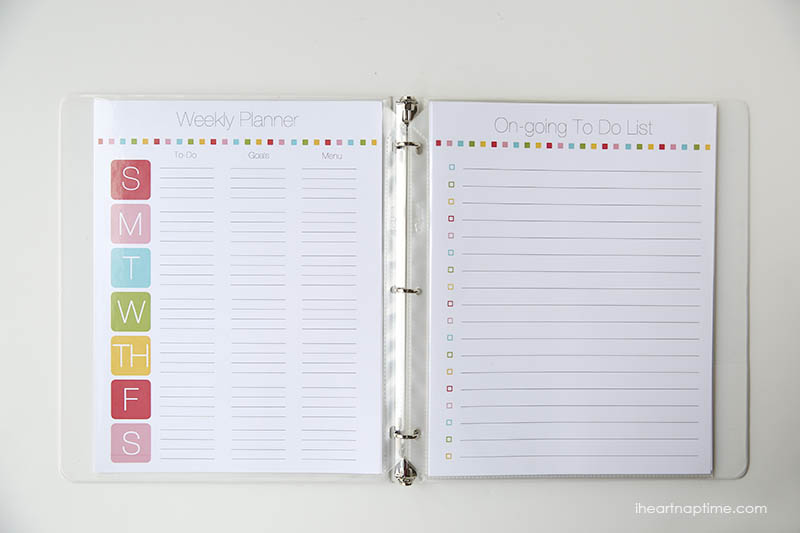 8 Images of Free Homemaking Printable Planner