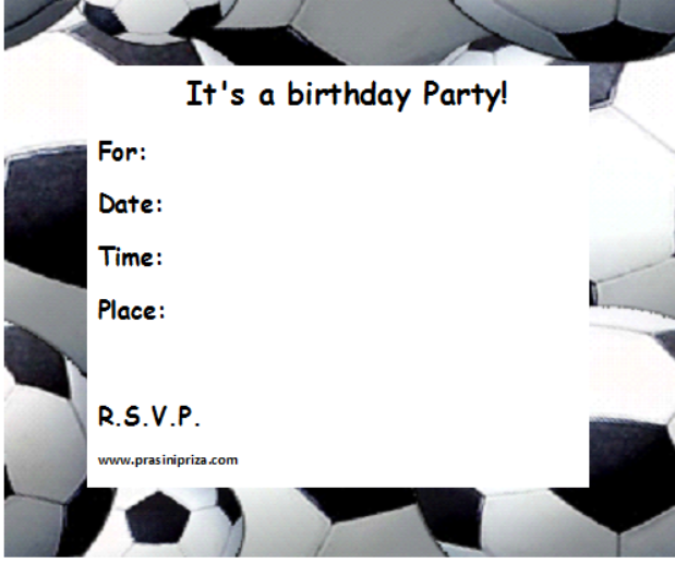 8 Images of Football Party Printables Free Birthday Cards