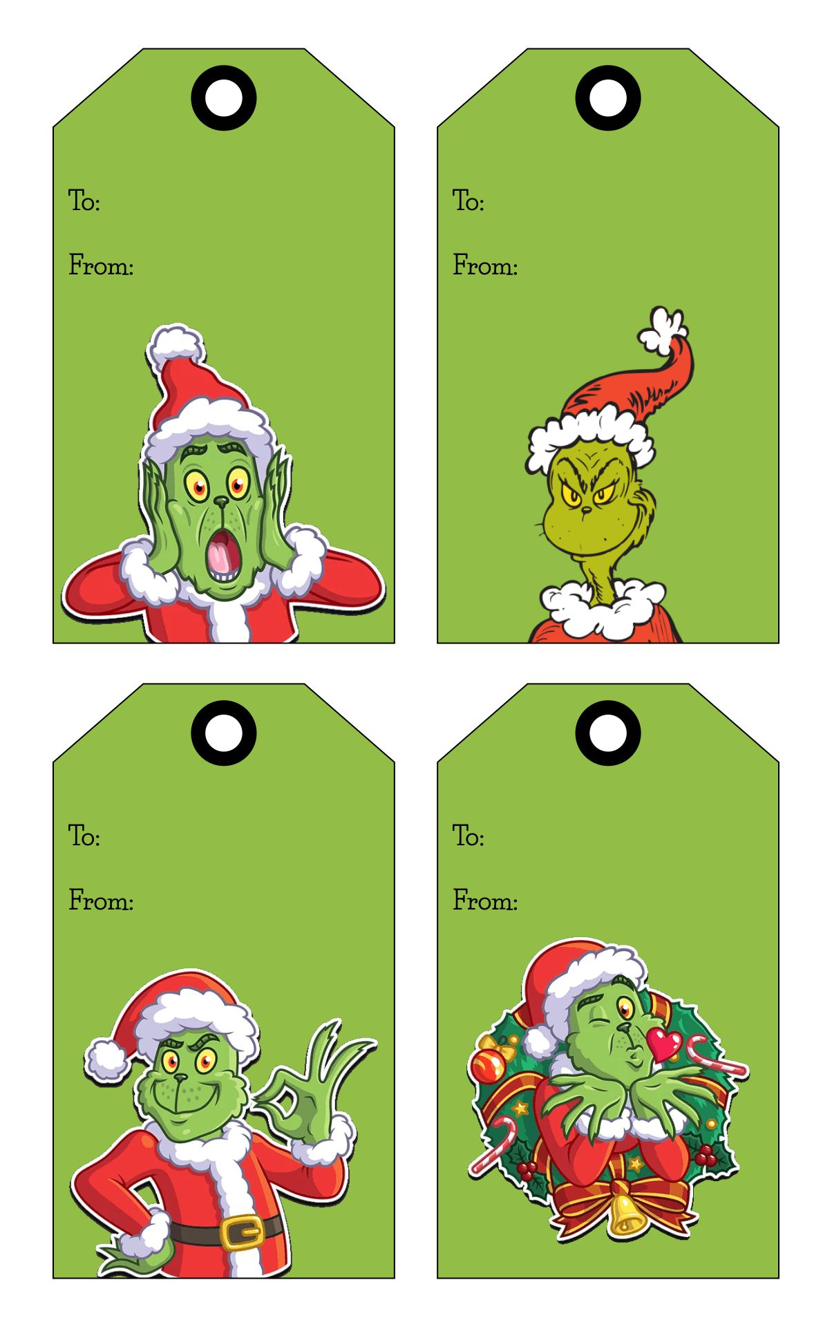 Free Printable Gift Tag Grinch